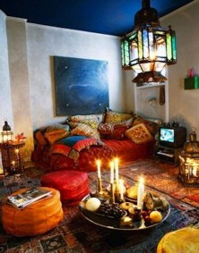 Cozy Bohemian Living Room Design Ideas 36