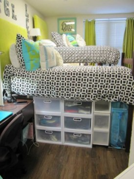 Efficient Dorm Room Organization Decor Ideas 07