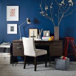 Elegant Blue Office Decor Ideas 02