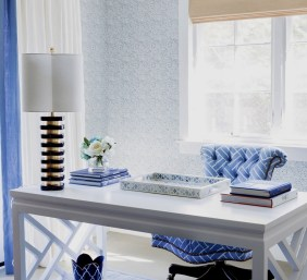 Elegant Blue Office Decor Ideas 10