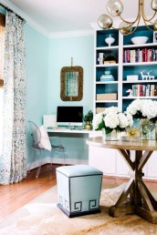 Elegant Blue Office Decor Ideas 12