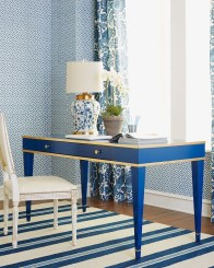 Elegant Blue Office Decor Ideas 20
