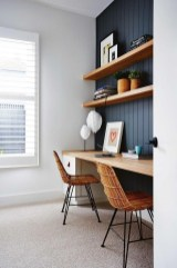 Elegant Blue Office Decor Ideas 25