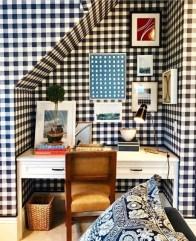 Elegant Blue Office Decor Ideas 27