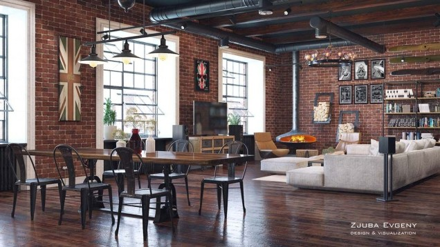 Elegant Exposed Brick Apartment Décor Ideas 33