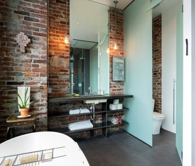 Elegant Exposed Brick Apartment Décor Ideas 40