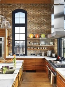 Elegant Exposed Brick Apartment Décor Ideas 44