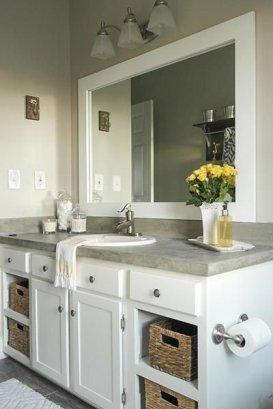 Gorgeous Bathroom Vanity Mirror Design Ideas 22