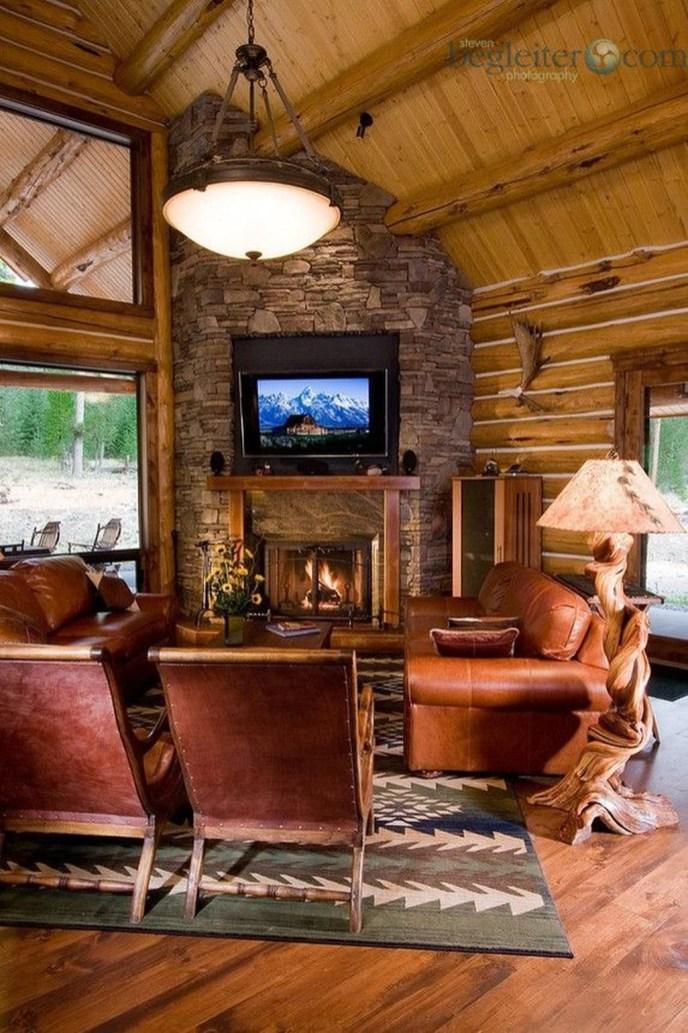Inspiring Corner Fireplace Ideas In The Living Room 15
