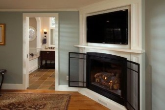 Inspiring Corner Fireplace Ideas In The Living Room 25