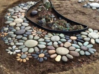 RSimple Rock Garden Decor Ideas For Front And Back Yard 12