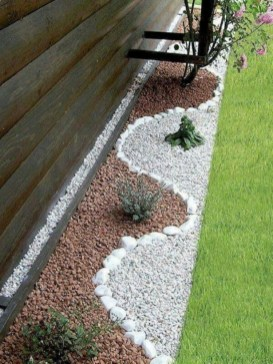 RSimple Rock Garden Decor Ideas For Front And Back Yard 42