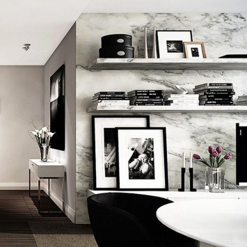Relaxing Black And White Apartment Décor Ideas 19