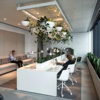 Relaxing Green Office Décor Ideas 24