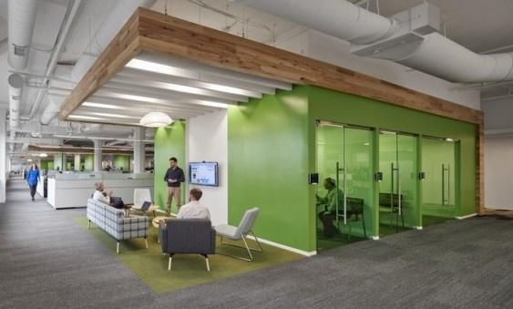 Relaxing Green Office Décor Ideas 26
