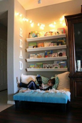 Simple Diy Book Nook Ideas For Kids 07
