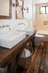 Awesome Rustic Farmhouse Vanities Ideas 14
