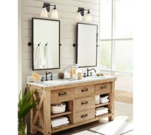 Awesome Rustic Farmhouse Vanities Ideas 16