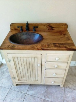 Awesome Rustic Farmhouse Vanities Ideas 36