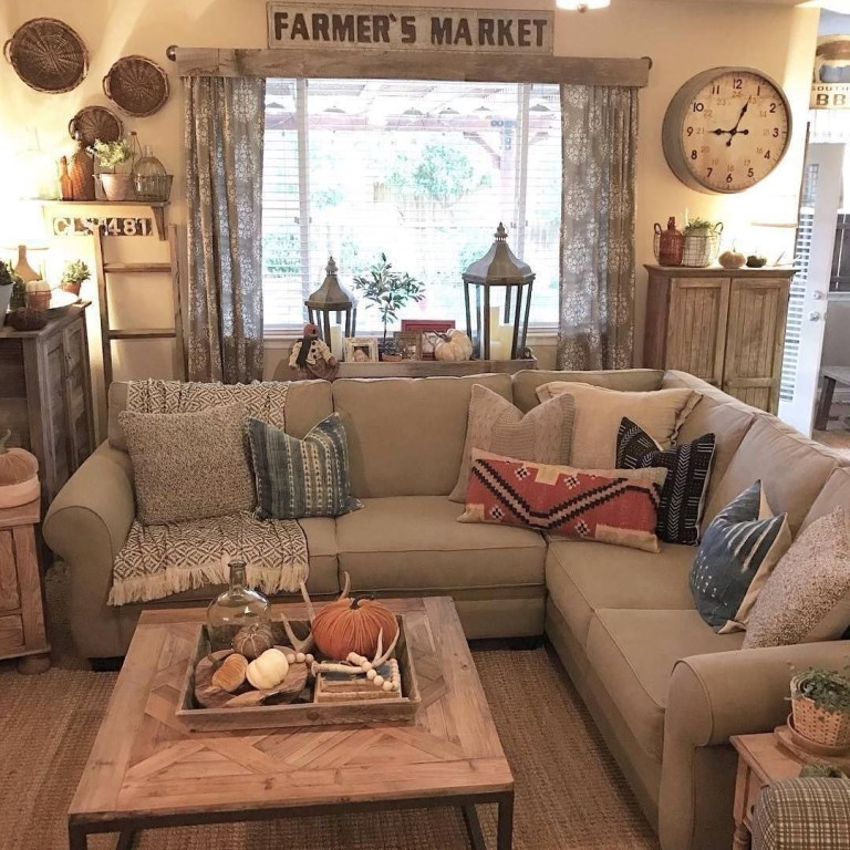Comfy Rustic Living Room Decor Ideas 29
