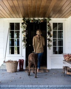 Cozy Fall Porch Farmhouse Style 05