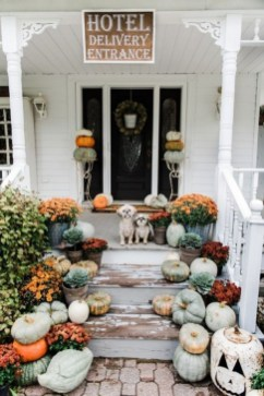 Cozy Fall Porch Farmhouse Style 14