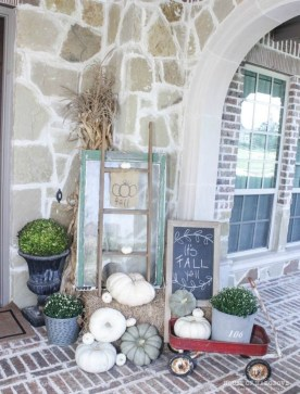 Cozy Fall Porch Farmhouse Style 17