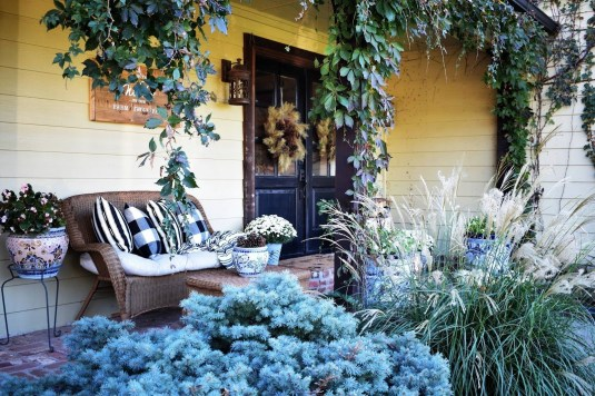 Cozy Fall Porch Farmhouse Style 23