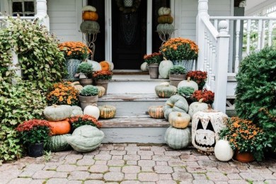Cozy Fall Porch Farmhouse Style 27