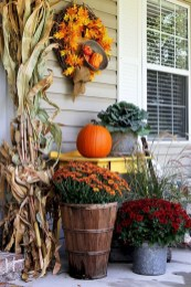 Cozy Fall Porch Farmhouse Style 29