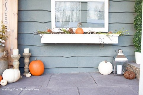 Cozy Fall Porch Farmhouse Style 37