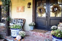 Cozy Fall Porch Farmhouse Style 38