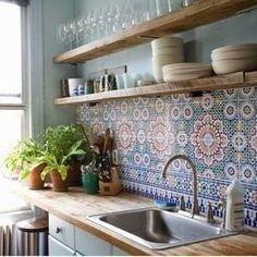 Inspiring Bohemian Style Kitchen Decor Ideas 08