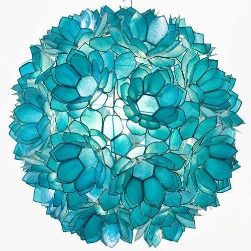 Pretty Aqua Pendant Lamp Ideas 10
