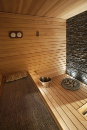 Wonderful Home Sauna Design Ideas 19