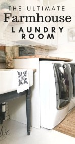 Amazing Diy Laundry Room Makeover With Farmhouse Style Ideas 31