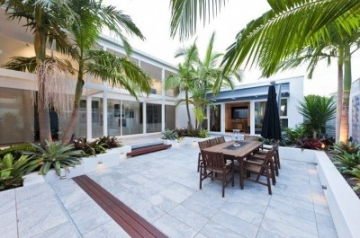 Attractive Sunken Ideas For Backyard Landscape 05
