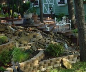 Attractive Sunken Ideas For Backyard Landscape 14