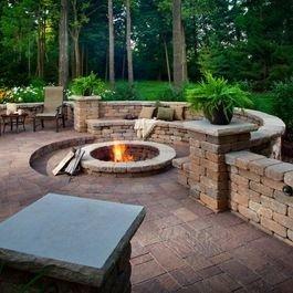 Attractive Sunken Ideas For Backyard Landscape 32