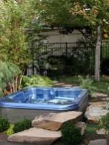 Attractive Sunken Ideas For Backyard Landscape 41