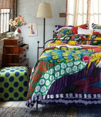 Comfy Boho Bedroom Decor With Attractive Color Ideas 07
