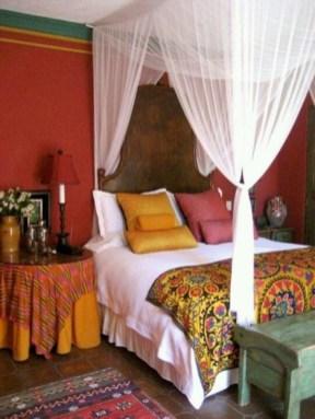 Comfy Boho Bedroom Decor With Attractive Color Ideas 08