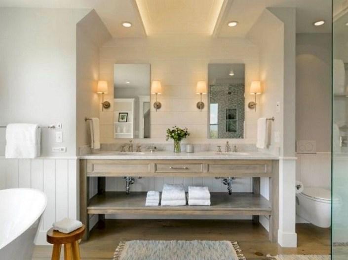Lovely Modern Farmhouse Design For Bathroom Remodel Ideas 40