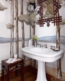 Minimalist Bathroom Winter Decoration Ideas 17