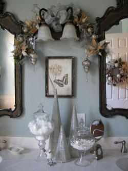 Minimalist Bathroom Winter Decoration Ideas 25