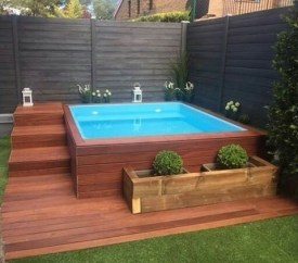 Modern Small Backyard Ideas With Swimming Pool Design 18