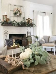 Stylish Fall Home Decor Ideas With Farmhouse Style 04