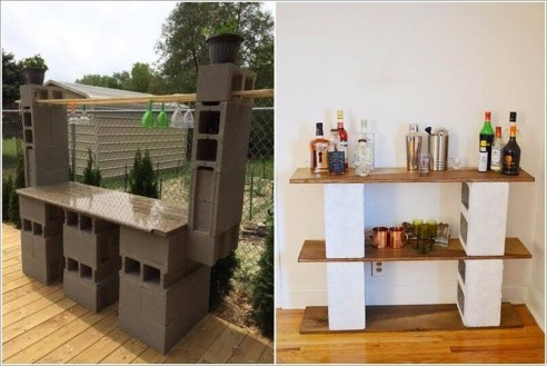Astonishing Diy Cinder Block Furniture Decor Ideas 25