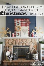 Creative Rustic Christmas Fireplace Mantel Décor Ideas 31