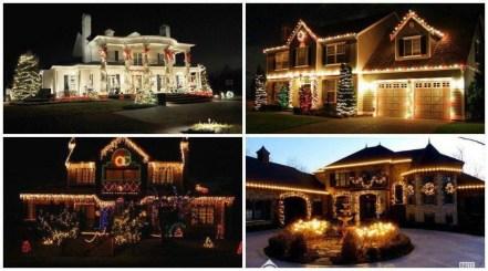 Elegant Christmas Lights Decor For Backyard Ideas 07